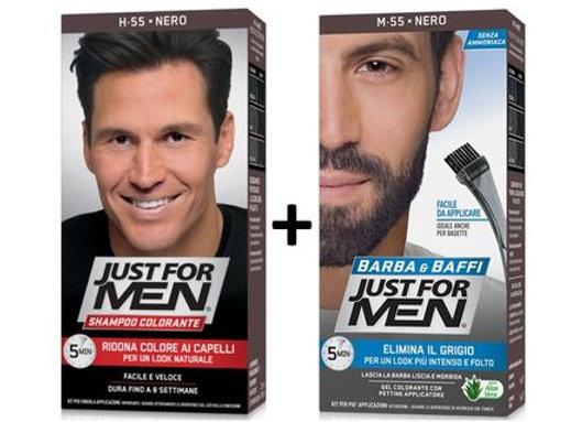 Just for Men - Bart+Haartönung - Schwarz - M55
