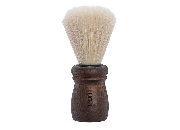 nom Rasierpinsel ALFRED, lange Naturborste - Griffmaterial Dark Ash