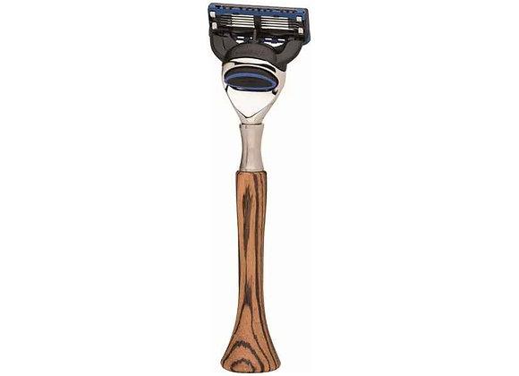 Rasierer - Gillette Fusion - Zebrano Holz