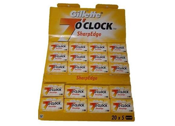 Gillette - Rasierklinge - 7 O'Clock - 100St.