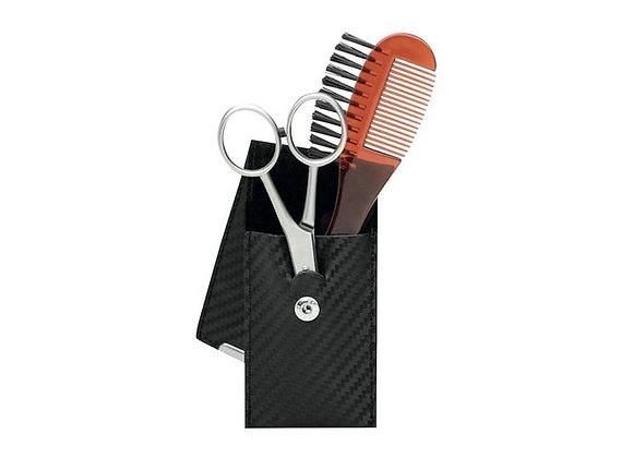 Bartpflege-Set  - 3-Teilig - Edelstahl
