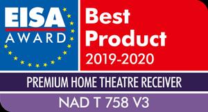 NAD wins EISA Premium Home Theatre Receiver 2019-2020