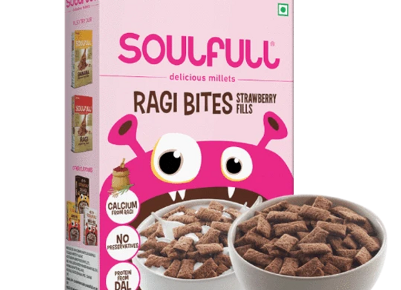 Soulfull Ragi Bites Strawberry Fills - 250 gms
