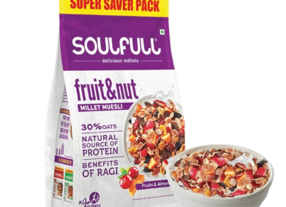 Soulfull Millet Muesli Fruit & Nut - 700 gms
