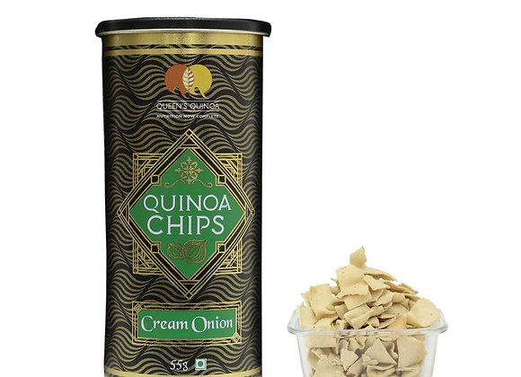 Flavoured Quinoa Chips – Cream Onion - 55 gms