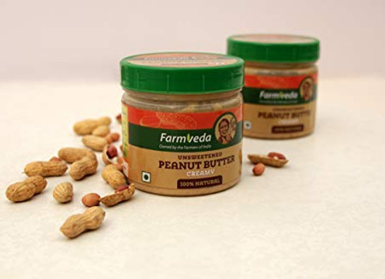 Farmveda Healthy and Tasty Unsweetened Creamy Peanut Butter (320G)