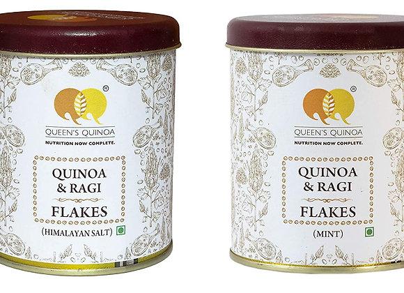 Queens Quinoa, Quinoa & Ragi Flakes Mint & Himalayan Salt ( 200 Gram ) Pack of 2