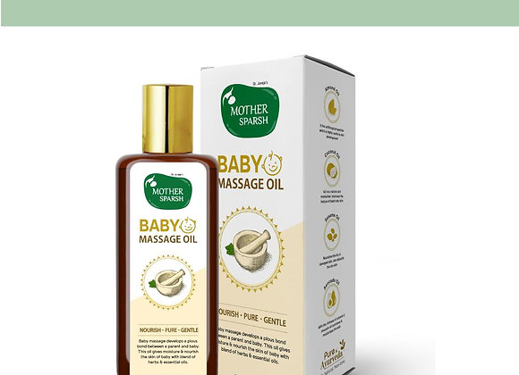 Ayurvedic Baby Massage Oil With 18 Oils For Stronger Healthy Bones And Muscles
