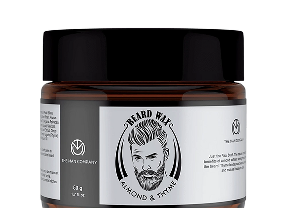 BEARD WAX- ALMOND AND THYME - 50 GMS