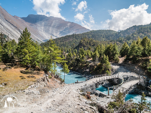 Přesun do oblasti Anapuren na trek Anapurnna circuit