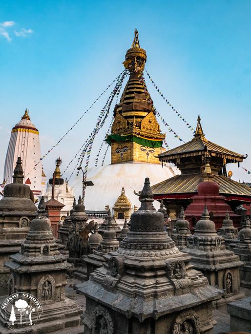 Swayambhunath neboli Monkey Temple v Káthmandu