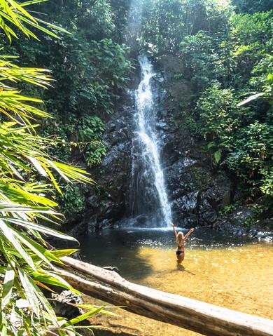 Durian Waterfall byl pro nás jedním z nejhezčích