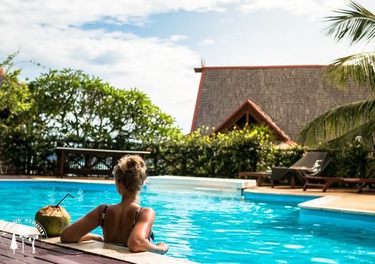 Pohoda v bazénu na Langkawi