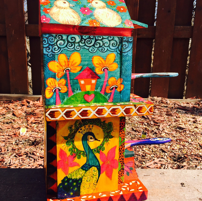 OOAK hand made and painted Birdhouse