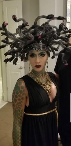Black Medusa Headdres