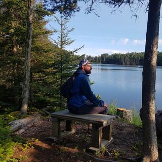 Point de vue sur le lac Forest.
