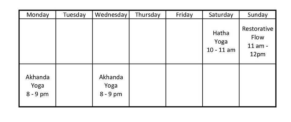 Yoga classschedule  Calm Your Storm Studio Devon AB, akhanda yoga, beginner yoga, hathta yoga, gentle yoga