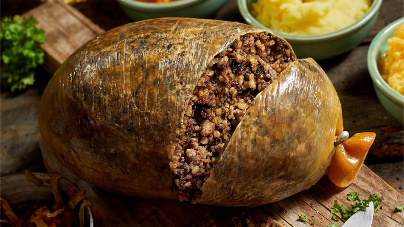 haggis neeps and tatties for a traditional burns night meal following the tradition of Robert burns
