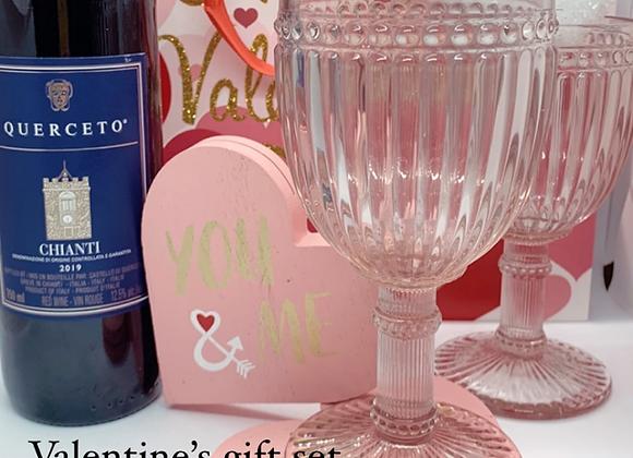 Wine lovers Valentine's gift set