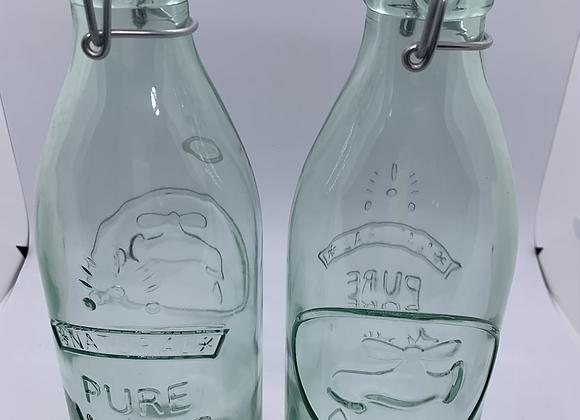 Italian glass water bottles