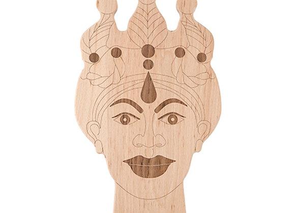 Woman's Moro head cutting board.  Inlay