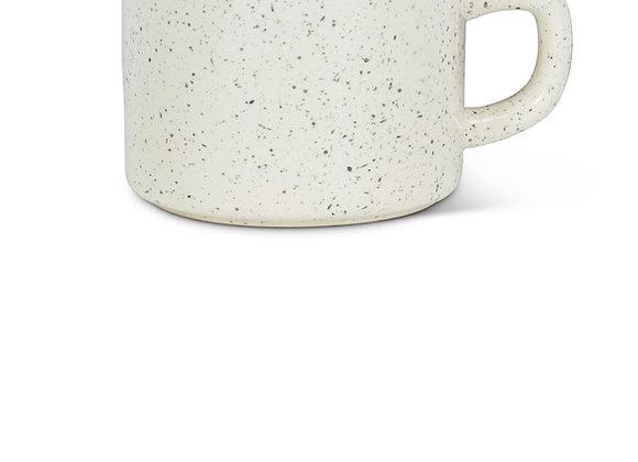 Enamel look cappuccino cup