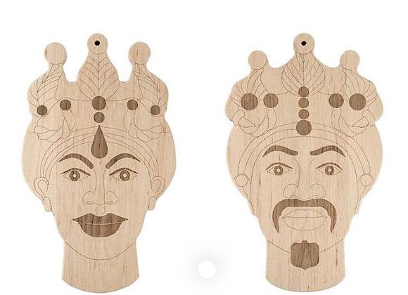 Men's Moro head cutting board- inlay