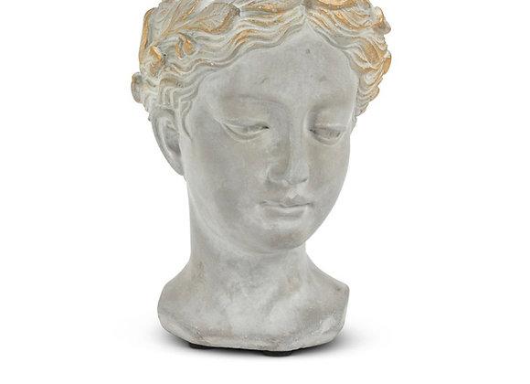 Extra small woman's head planter