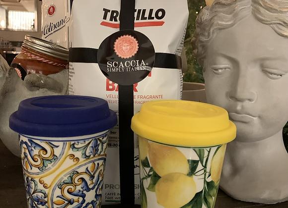 Sicilian tile takeaway cup