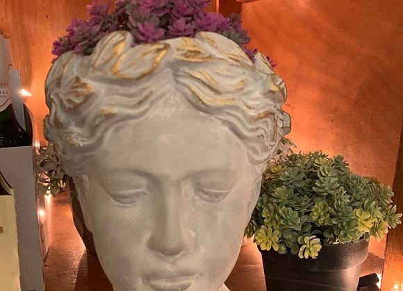 Small woman's head planter