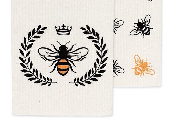 Bee dishcloths (2)