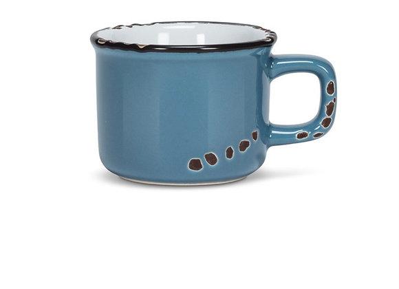 Blue espresso cup