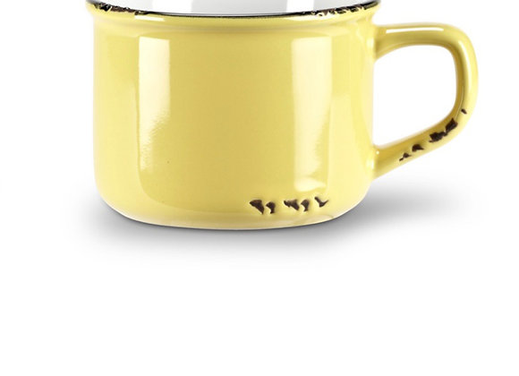 Yellow cappuccino cup