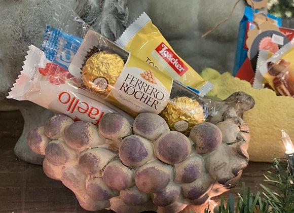 Grape planter w chocolates