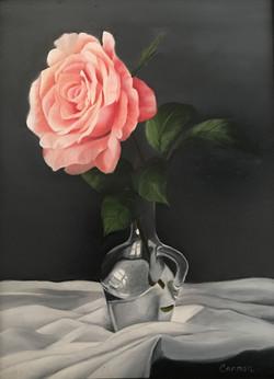 Rose in Glass Vase