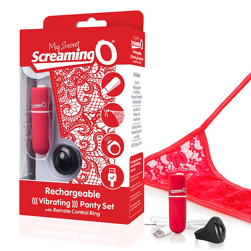 SCREAMING O MY SECRET CHARGED REMOTE CONTROL PANTY VIBE RED
