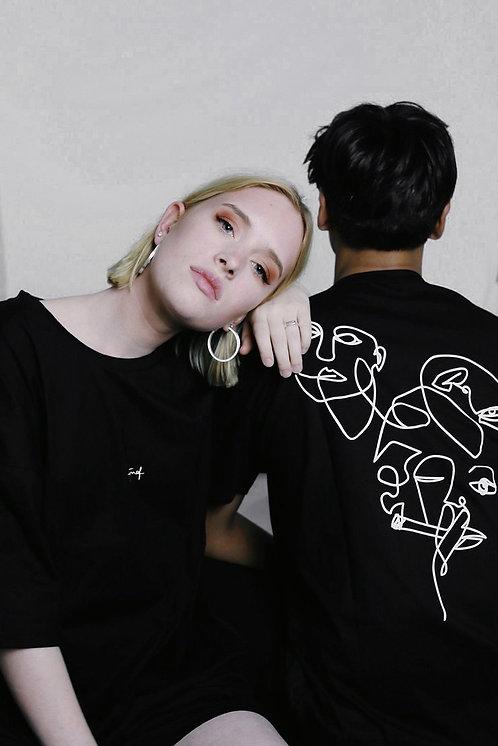 Ngurah T-shirt oneliner Black