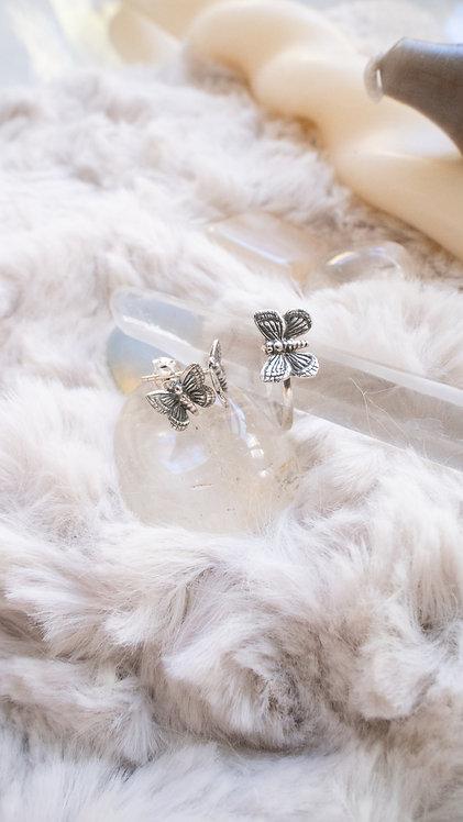 Kupu-Kupu Earring Silver