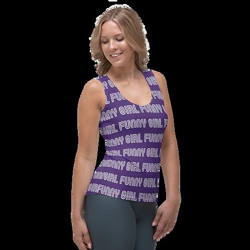 FUNNY GIRL Title Pattern - Women's Cut Tank Top