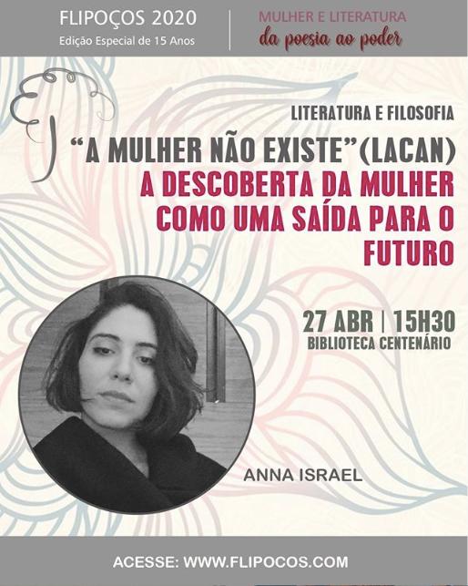 PALESTRA DE ANNA ISRAEL NA FLIPOÇOS 2020