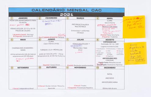 Calendário Mensal CAC