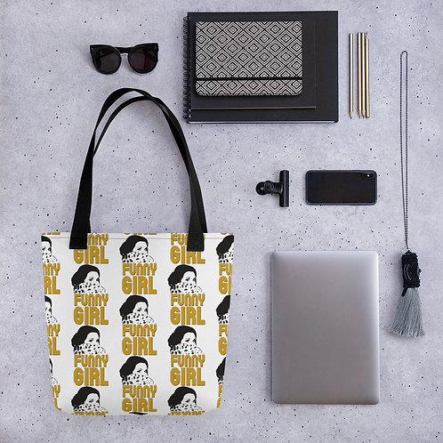 FUNNY GIRL Gold Tote bag