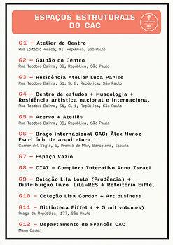 Espaços Estruturais do CAC - Conglomerado Atelier do Centro - Méthodo RES - Rubens Espírito Santo