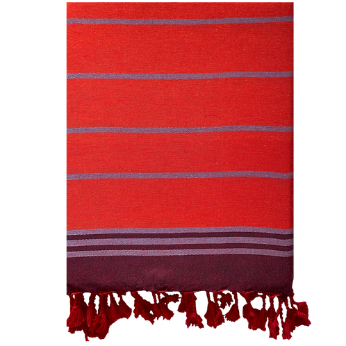 Cinnamon-Coral Turkish Towel
