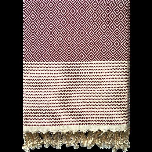 Crystalline - Burgundy Turkish Towel