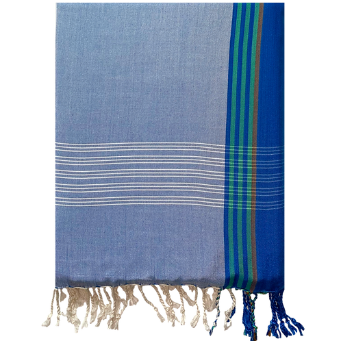 Blue in Green Turkish Towel