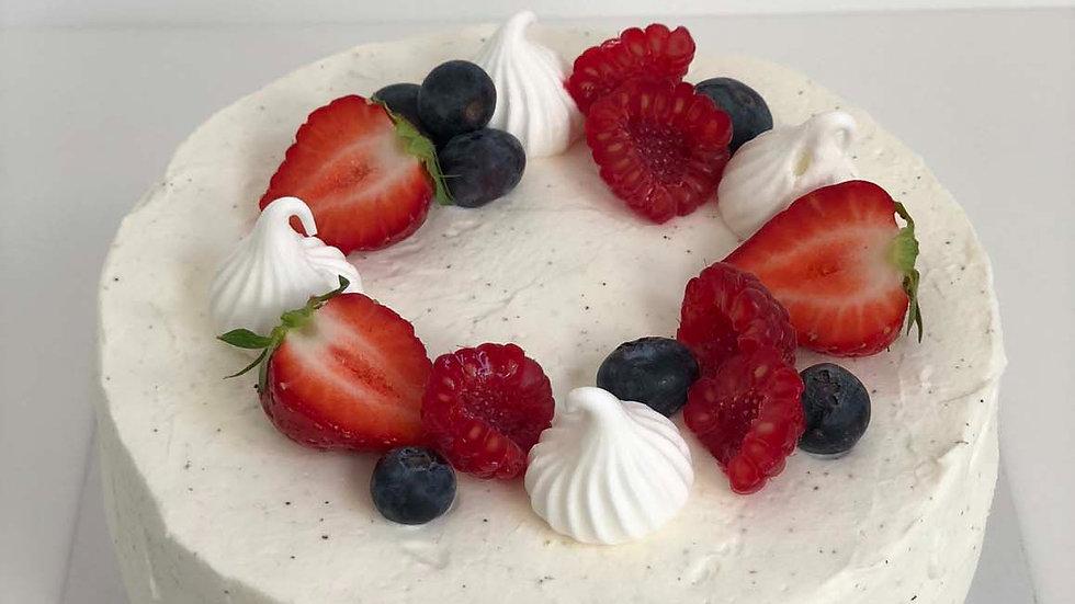 Milk and Berry Layer Cake