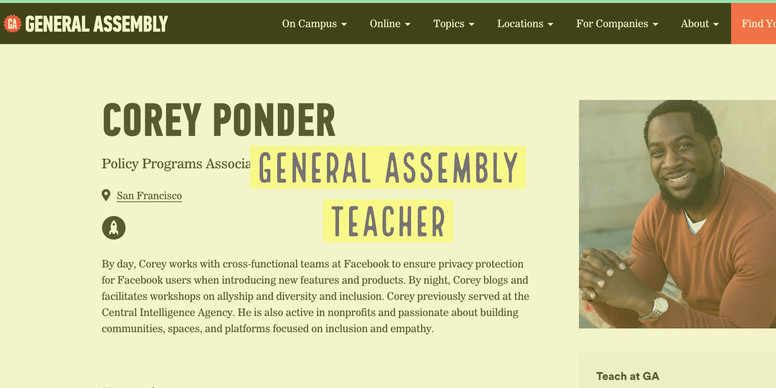 Teacher at General Assembly