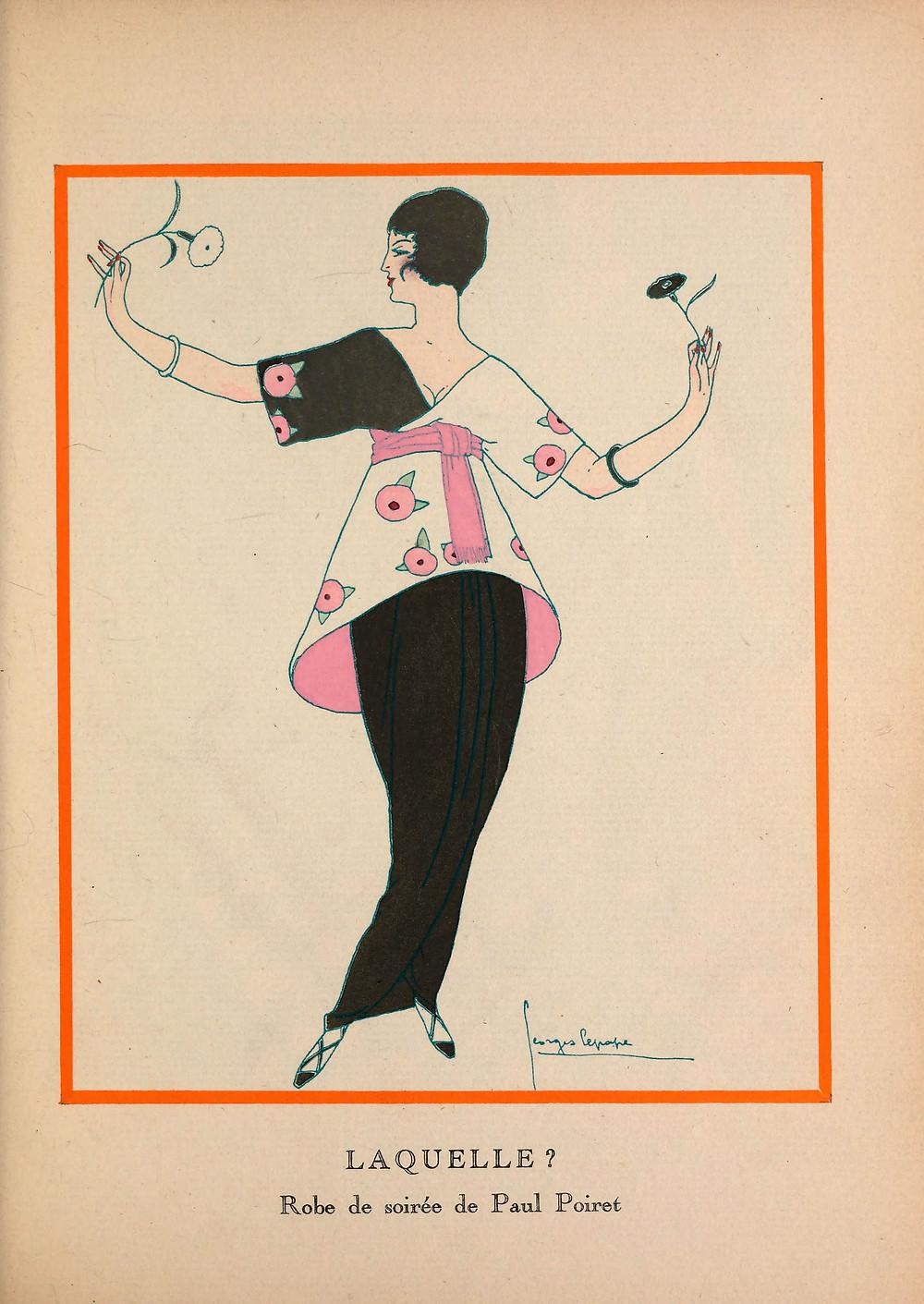 Poiret's Sorbet in Gazette du Bon Ton, Sept. 1913.