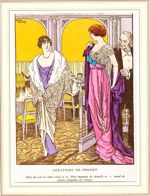 Premet designs for evening. From Gazette du Bon Ton, 1912.